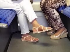 Two granny s nylon feet